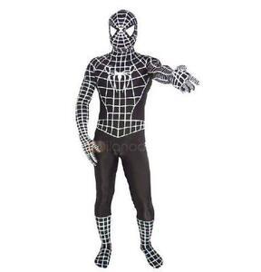 SPIDERMAN 3 SUIT COSTUME AUTHENTIC REPLICA OF MOVIE BLACK ... |Black Spiderman Costume Replica