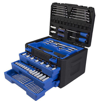 Kobalt 227-Piece Standard (Sae) and Metric Mechanic's Tool Set Wrench Hard Case