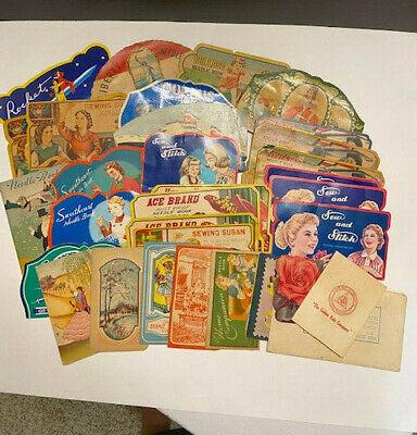 Huge Lot 30 Vintage Sewing Needle Kits Books Advertising Occupied Japan Watkins