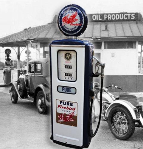 Pure Firebird Super Racing Gasoline Model 39 Tokheim Gas Pump-petoliana Style