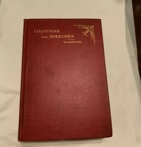 Orations And Speeches, Charles F. Warwick, Signed, #, 1st, Mayor Of Philadelphia