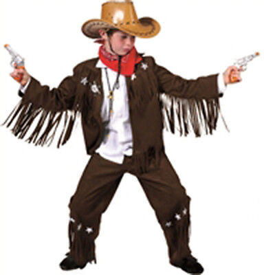Silver Star Fringe Cowboy Costume for Kids size 8 New by Funny Fashion - Star Kids Costume