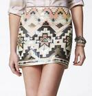 Express Aztec Sequin Skirt