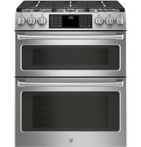 FINANCE A GE CAFE DOUBLE OVEN GAS SLIDE IN!- DUAL FUEL, PRECISE AIR CONVECTION & WIFI CONNECTED!