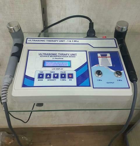 Ultrasound Therapy 1 & 3 Mhz Physical Pain Relief Therapy Two Head Machine