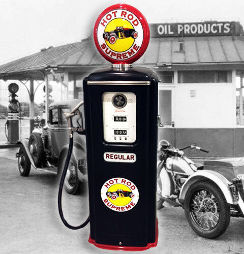 Hot Rod Supreme Tokheim Model 39 Full Size Gas Pump - Vintage Petroliana Style