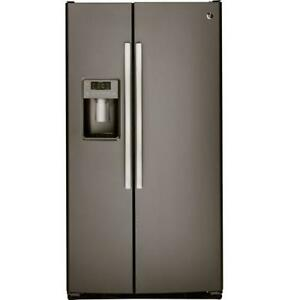 FRIDGE GE 23CU SXS SLATE OR STAINLESS STEEL OPEN BOX
