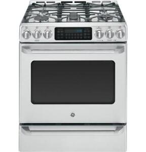 STOVE GE CAFE DUEL FUEL CONVECTION STAINLESS STEEL