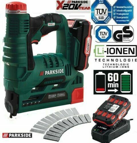 PARKSIDE® Akku-Tacker 20V PAT 20-Li A1 -  Mit Akku + Ladegerät im Koffer - NEU