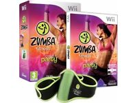 Zumba Fitness Wii - Bundle Pack with official Zumba Fitness Belt accessory **Never been used**