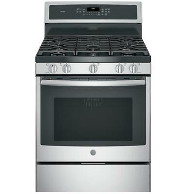 """GE Profile™ Series PGB930SEJSS 30"""" Free-Standing Gas Convection Range"""