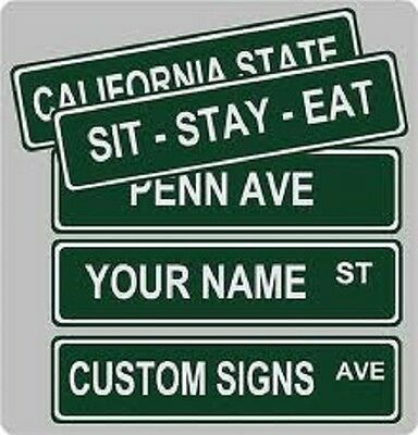 Custom Street Sign 4x18 .040 Aluminum With Premium Outdoor Vinyl Lettering