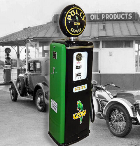 Polly Gas Model 39 Tokheim Full Size Gas Pump-vintage Petroliana Style
