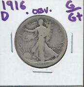 1916 D Walking Liberty Half Dollar