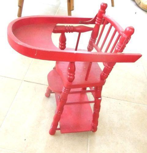 High Chair Toy Holder : Wood doll high chair ebay