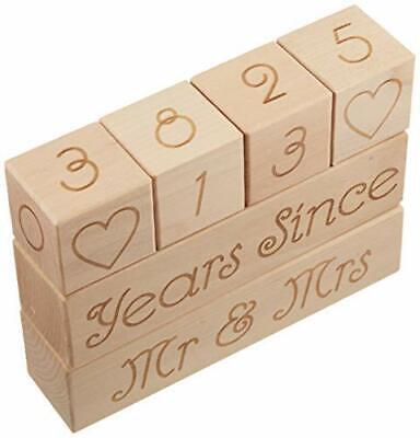 Wedding Countdown Calendar (Wooden Blocks) Unique Funny Engagement Gift