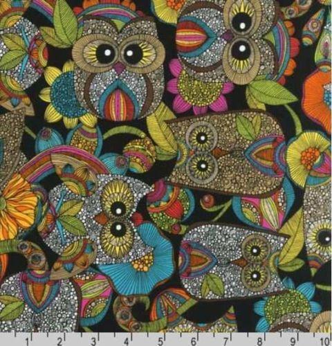 Retro Owls Fabric
