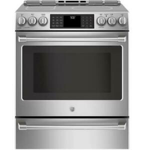 STOVE GE CAFE SLIDE-IN DUEL STAINLESS STEEL.MODEL.CC2S986SELSS