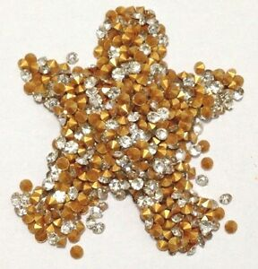 ZHA12-144-pcs-SS12-3mm-Diamond-A-Shape-Rhinestone-Clear-Point-Back-1840f