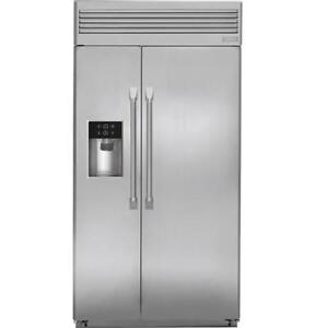 "MONOGRAM 42"" WIDE 84"" TALL BUILT-IN SIDE-BY-SIDE REFRIGERATOR"