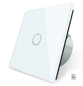 CRISTAL-Touchscreen-RADIO-INTERRUPTOR-PARED-INTERRUPTOR-UN-de-c701r-11-blanco