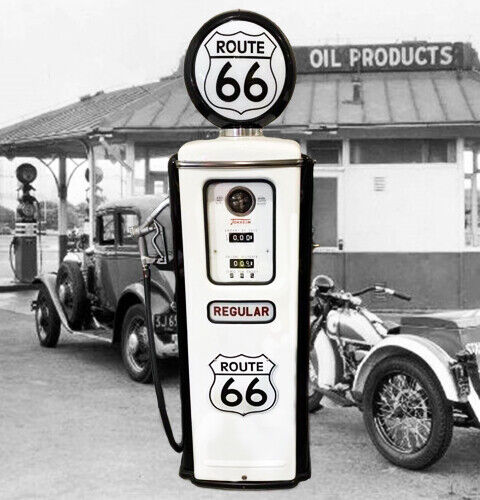 ROUTE 66 TOKHEIM MODEL 39 FULL SIZE GAS PUMP - VINTAGE PETROLIANA STYLE