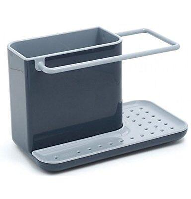 Joseph Joseph Sink Caddy, Kitchen Soap and Sponge Holder, Dark Grey and Grey