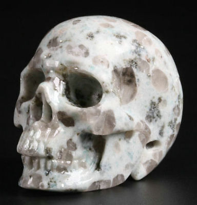 2.0 Inch  Genuine Lotus Jasper Hand Carved Crystal Skull, Realistic,Healing #61