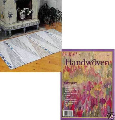 Handwoven magazine mar/apr 1988: cocoon, footstool, tablecloth, rug, tapestry +