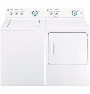 Combo: New Washer / Dryer, 27 '', white, large capacity, GE