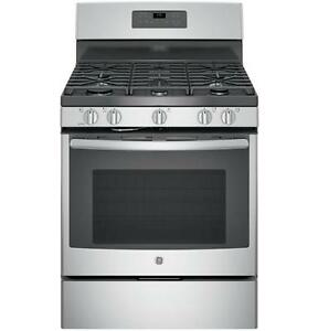 BRAND NEW GAS STOVE GE CONVECTION STAINLESS STEEL