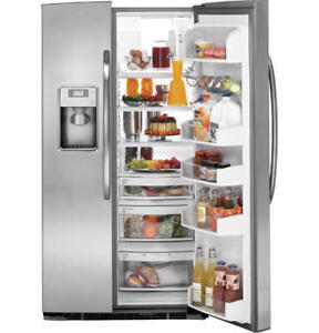 BRANF NEW FRIDGE GE 23CU OR 26CU SXS STAINLESS STEEL
