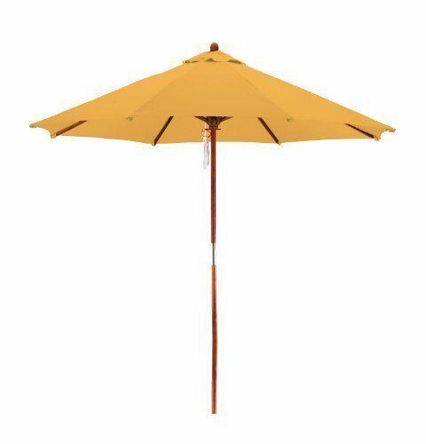 California 9 Ft Wood Polyester Patio Umbrella