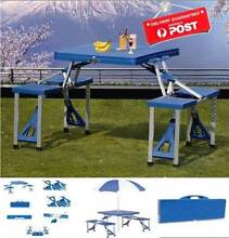 Folding Camping Picnic Table with Chairs (Blue) BRAND NEW! Castle Hill The Hills District Preview