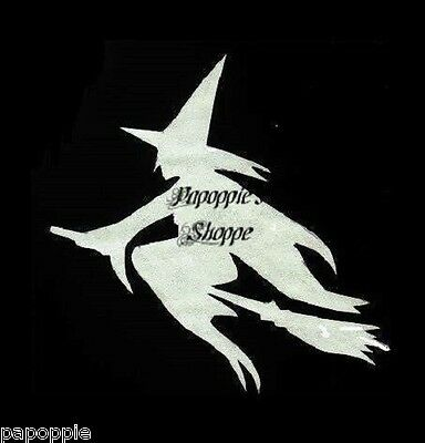 Halloween Flying Witch Stencil for Crafts Signs