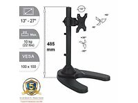 NEW IN BOX MONITOR VESA STAND UP TO 27 INCH TILT SWIVEL HEAVY DUTY RRP £50 LEICESTER