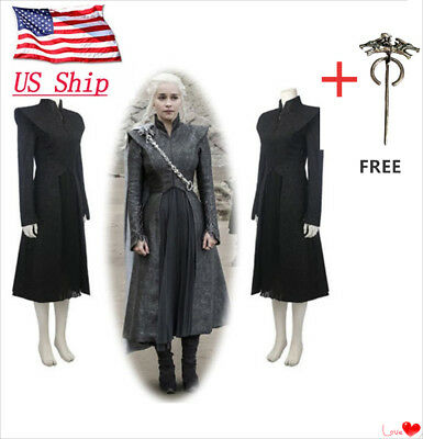 Game of Thrones Season 7 Daenerys Targaryen Dress Set Cosplay Costume - Season Halloween Costumes