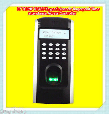 Zksoftware F7 Biometric Fingerprint Access Controlattendance Time Clock Tcpip