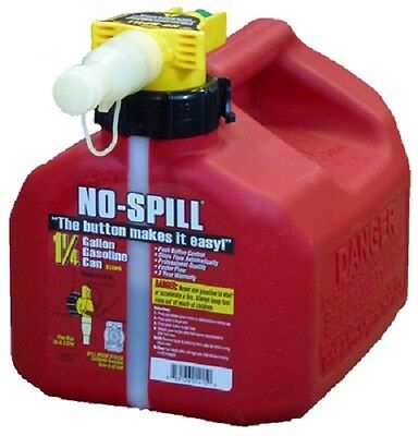 No Spill 1415 1-14 Gallon Carb Compliant User Friendly Gas Gasoline Fuel Can