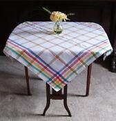 Vintage Check Tablecloth