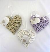 Shabby Chic Wicker Hearts