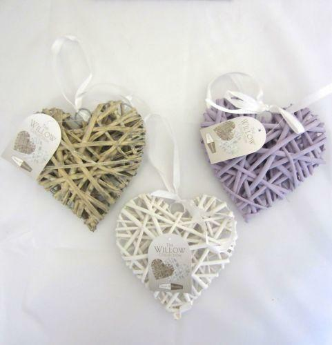 shabby chic wicker hearts ebay. Black Bedroom Furniture Sets. Home Design Ideas
