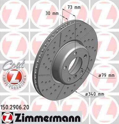 2x ZIMMERMANN Bremsscheibe Bremsscheiben Satz Bremsen COAT Z