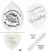 Congratulazioni/with Love Il Tuo Matrimonio Day Striscione Laminato & -  - ebay.it