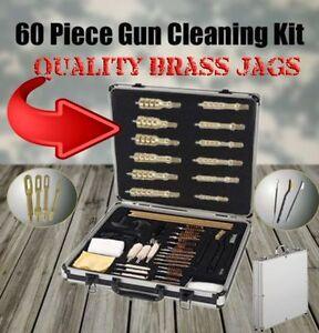 60PC PROFESSIONAL UNIVERSAL GUN CLEANING KIT CASE RIFLE PISTOL SHOTGUN 60 PIECE