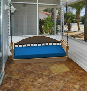 Hanging porch bed full size woodworking diy plans build it for Hanging bed construction