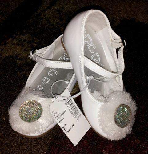Kids White Dress Shoes