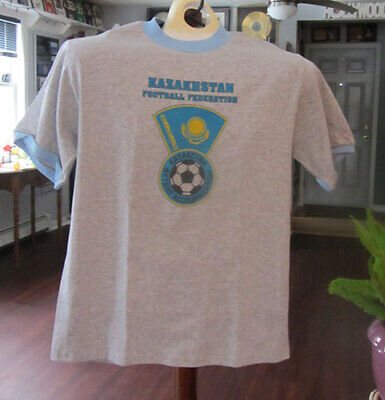 KAZAKHSTAN  WORLD CUP SOCCER SHIRT ~ BRAND NEW--NEVER-BEEN-WORN--SIZE MEDIUM image