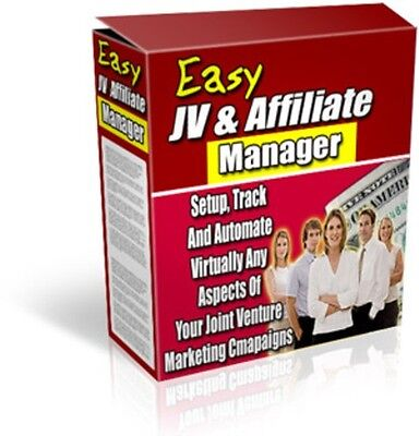 Jv Affiliate Manager Software Internet Marketing Sales Profits Web Site Awesome