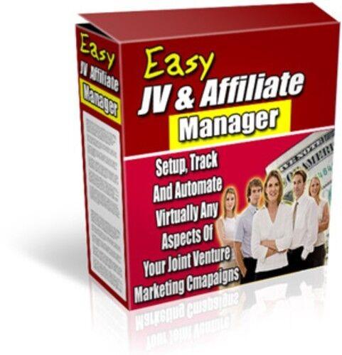 JV AFFILIATE MANAGER SOFTWARE INTERNET MARKETING SALES PROFITS WEB SITE AWESOME!
